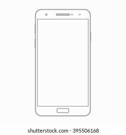 smartphone outline template wireframe contour mobile stock