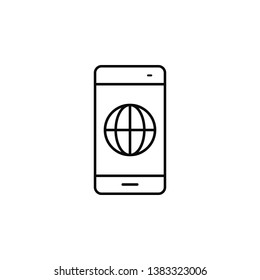 smartphone, phone, networkicon. Simple thin line, outline vector of Smartphone icons for UI and UX, website or mobile application