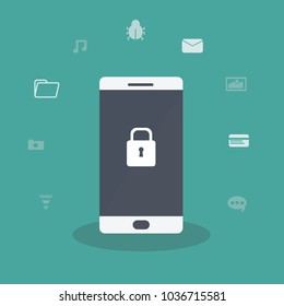 Smartphone is protected  - Mobile security