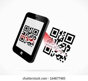 Smartphone scanning QR-code