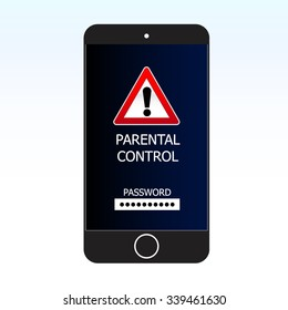 Smartphone with screen parental control