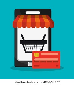 Smartphone and shopping online design