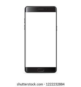Smartphone similar like note phone isolated on white background