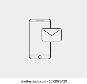 Smartphone SMS vector icon. Vector phone messaging icon illustration design.