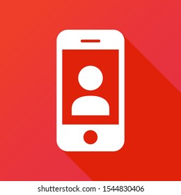 Smartphone, social icon. Phone contact Icon