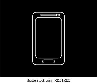 smartphone thin line icon
