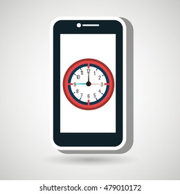 smartphone time clock icon