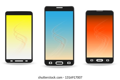 Smartphone with touch screen