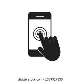 Smartphone touch screen icon. Vector illustration