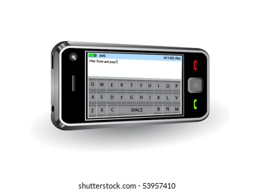 Smartphone with touchscreen