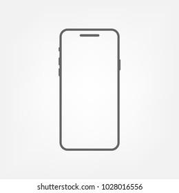 Smartphone - vector icon. Iphone X