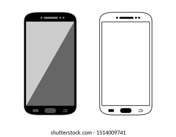 Smartphone Vector Template Mock Up Set Isolated on White Background
