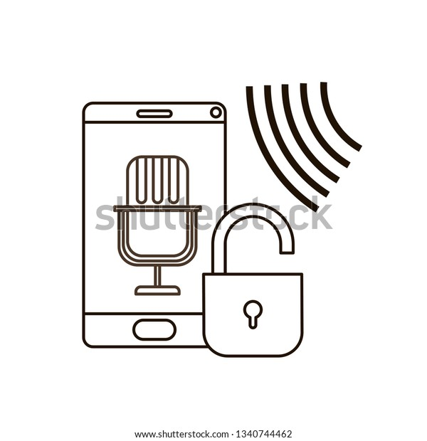 smartphone with voice assistant icon