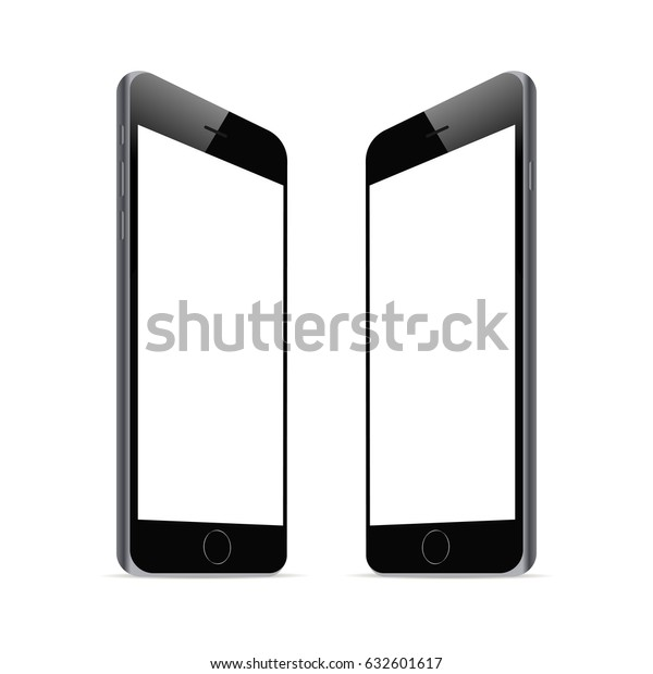 cheaper 7cedb 25ede Smartphones Iphone 6 Blank Screens Isolated Stock Vector (Royalty ...