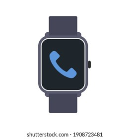 smartwatch icon,  with phone sign . vector illustration