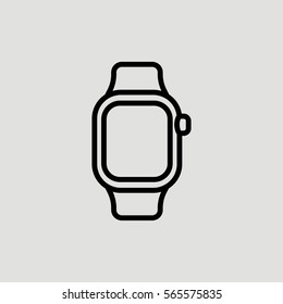Smartwatch Watch Smart Outline Vector Icon