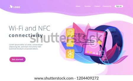 Smartwatch Wi Fi Bluetooth GPS Wireless Connectivity Stock