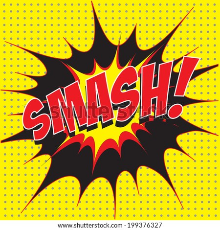 smash comic speech bubble pop art stock vector royalty free
