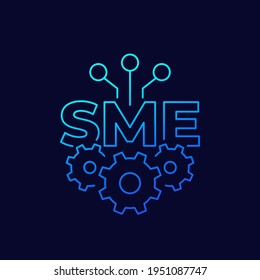 SME, small and medium enterprise, thin line icon