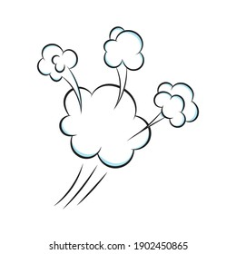 Smelling pop art comic book cartoon fart cloud flat style design vector illustration. Bad stink or toxic aroma cartoon smoke cloud isolated on white background.
