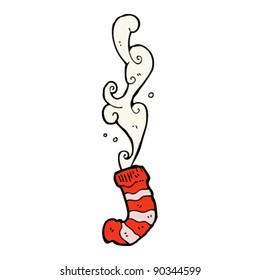 smelly old sock cartoon