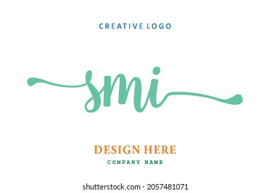 SMI lettering logo is simple, easy to understand and authoritative