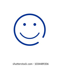 Smile baby line vector icon