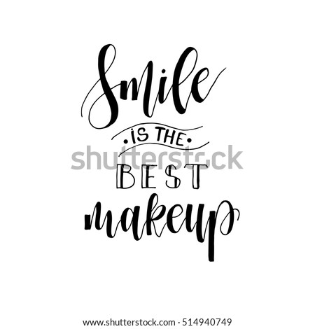 Smile Best Makeup Card Hand Drawn Stock Vector Royalty Free