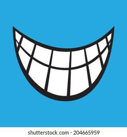 Smile cartoon vector icon