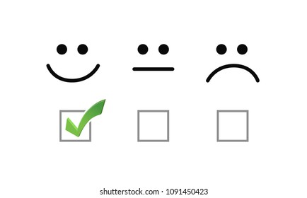 Smile check mark selection illustration options graphics. isolated over white