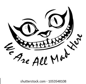 Smile Cheshire Cat Alice in Wonderland