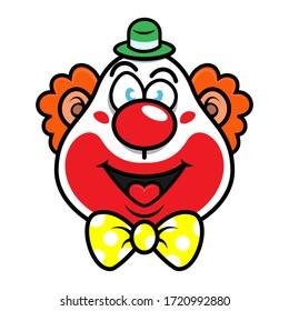 Smile Clown face with happy facial expression good for icon or logo Cartoon Vector