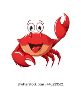 Smile crab vector icon