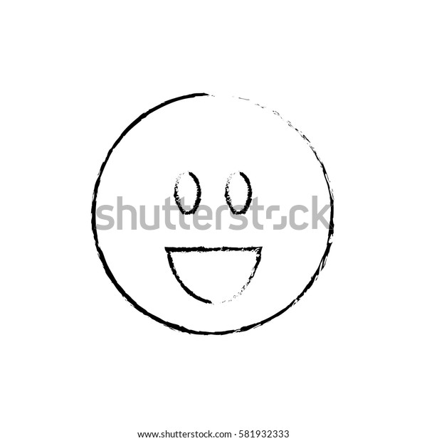 Smile emoticon cartoon icon vector illustration graphic design