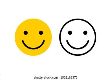 smile emoticon face icon design. vector illustration