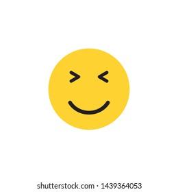 smile emoticon face icon vector illustration