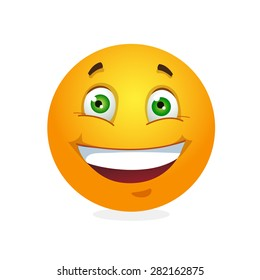 Smile. Emoticon. Vector