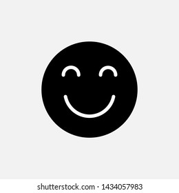Smile Face Emoticon Icon Vector Illustration.