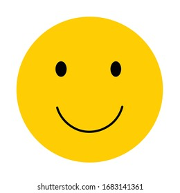 Smile face yellow vector happy