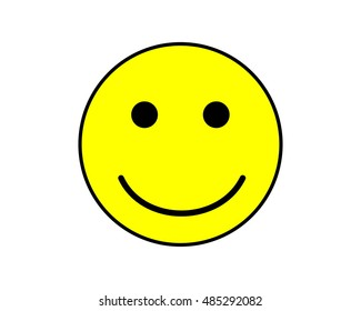 Smile Face,Yellow smiley face,Happy,Quality Pass. Isolated Icon