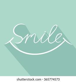 Smile font design, vector illustration, graphic, background
