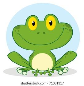 Smile Frog Cartoon Character