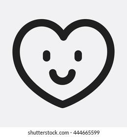 Smile heart Icon