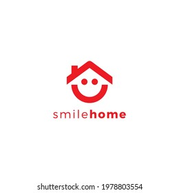 Smile Home Logo Simple suitable for realestate logo