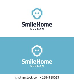 Smile home vector graphic template download modern