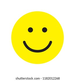 Smile icon. Happy face symbol. Smiley. Flat style. Vector illustration.