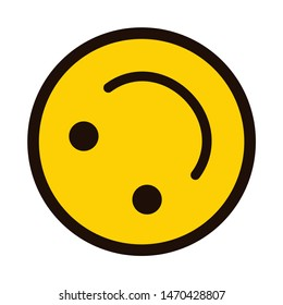 smile icon. Happy smiley face. Smiling Emoticon. Yellow vector symbol.