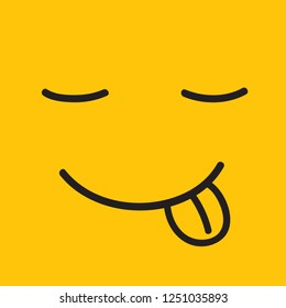 Smile icon isolated on yellow background.Trendy smile icon template for banner, wallpaper, greeting card,placard and poster. Useful web site, app, ui and logo. Creative art concept,vector illustration