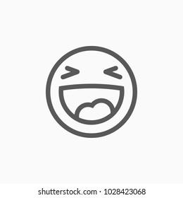 smile icon, laugh vector