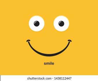 Smile icon logo, emoji face. Vector illustration.
